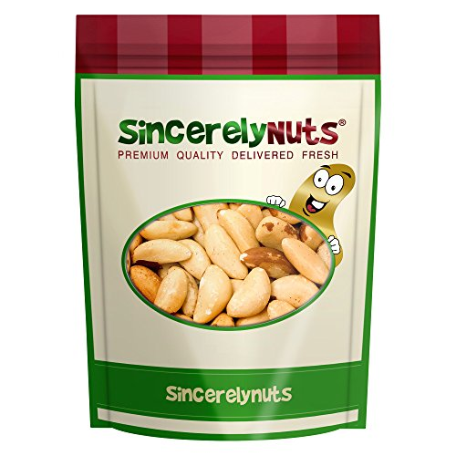 Sincerely Nuts Brazil Nuts Roasted & Unsalted No Shell - One (1) lbs. Bag – Great for Snaking - Immense Health Benefits - Kosher
