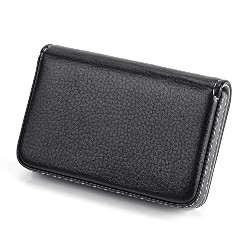 d57e3da4f44ee Padike Business Name Card Holder Luxury PU Leather