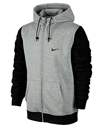 Nike Herren Kapuzenjacke Sweat Club, gris/negro (dk grey heather/black/black), XXL, 611456