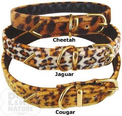 Jaguar Faux Fur - Faux Fur Buckle Collar - Jaguar 12 inch