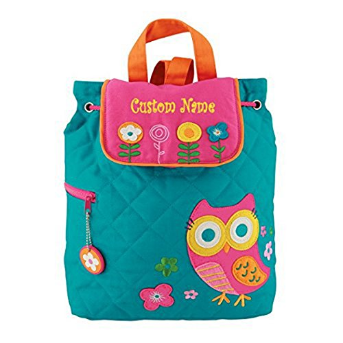 Personalized Stephen Joseph Teal Owl Embroidered Backpack, CUSTOM NAME