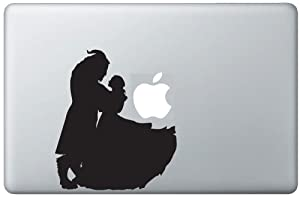 """Beauty and the Beast Dance Silhouette Apple Logo Vinyl Decal Sticker Skin for Macbook 13"""" inch Pro Air Retina Laptop Design Artwork by Trendy Accessories"""