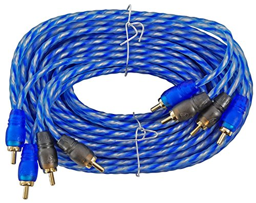 Rockville RTR174 17 Foot 4 Channel Twisted Pair RCA Cable