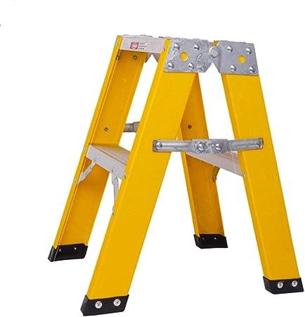 Escalera Vidrio Acero Hogar telescópica Ingeniería Electricista Plegable Espiga Doble Lado Engrosamiento Aislamiento LCSHAN (Size : Two ladders): Amazon.es: Hogar