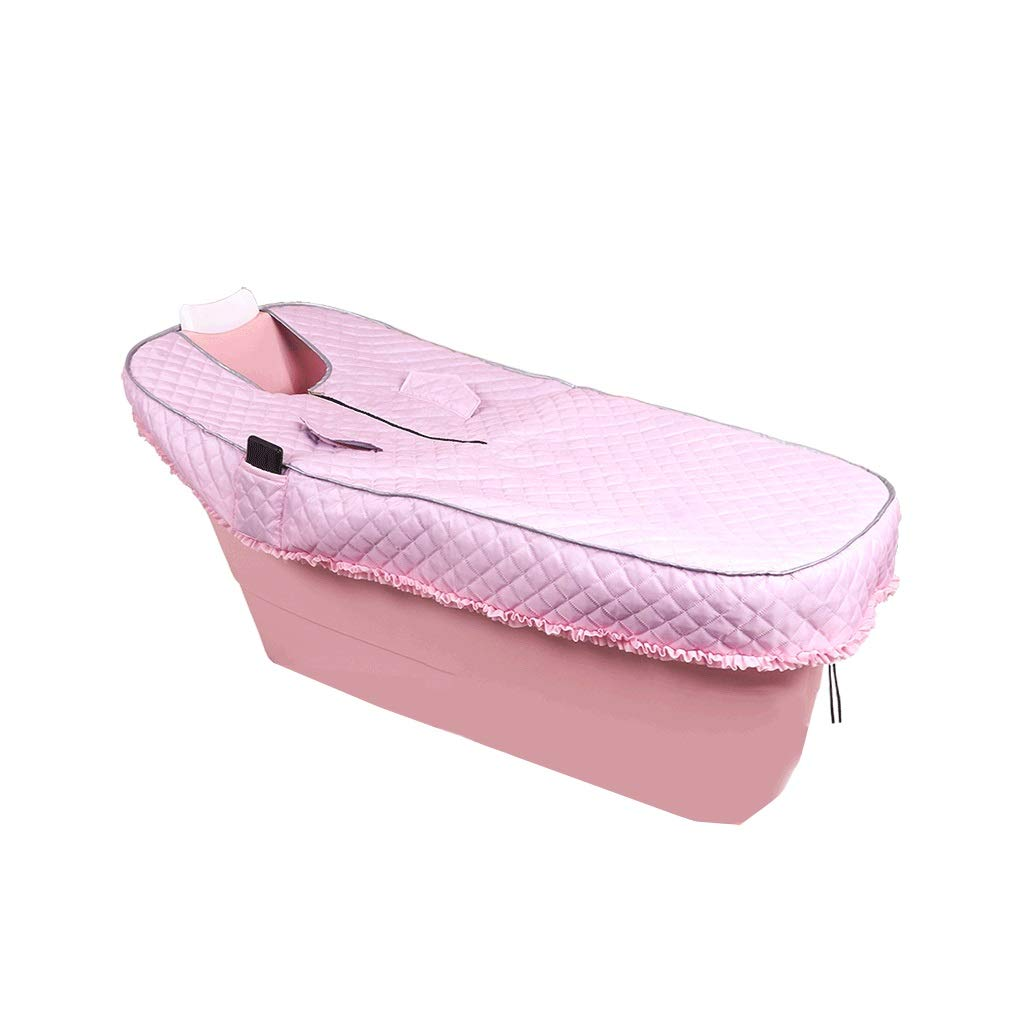 Bath tub Bathtub Adult Bathtub Long Bathtub Adult Bathtub Plastic Thicken Household Bathtub Large Bathtub With Cover 4 Color 2 Size (Color : Pink, Size : 1356064cm)