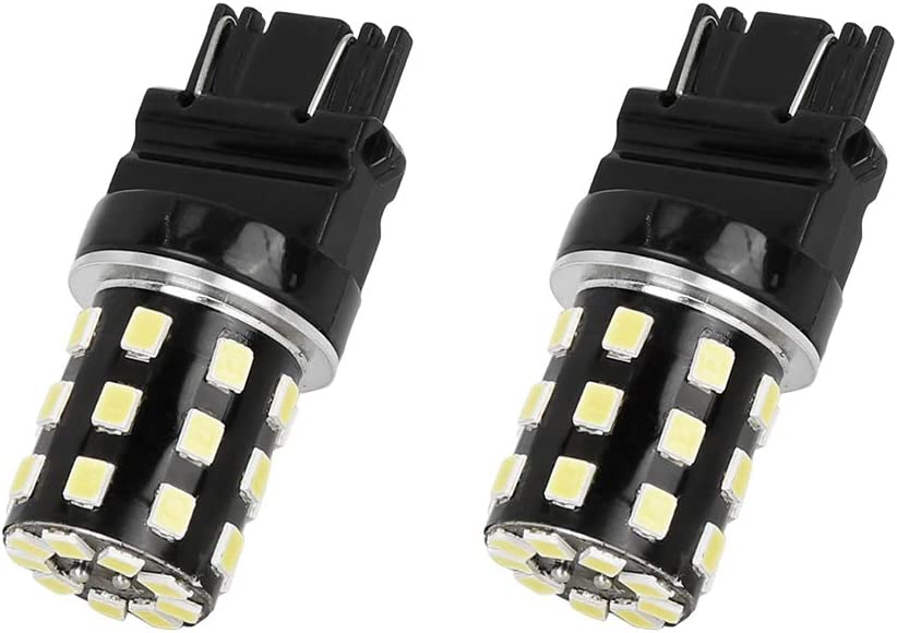 X AUTOHAUX 2pcs White 2835 Car 3157 LED Light Reverse Stop Turn Signal Parking Light Bulbs Car LED License Plate Brake Lamp