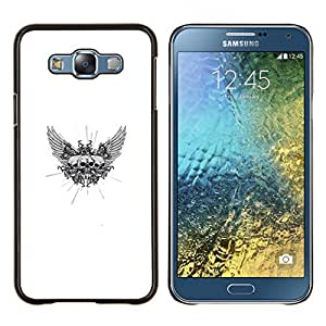 Stuss Case / Funda Carcasa protectora - Triple Ala Cráneo - Samsung Galaxy E7 E700