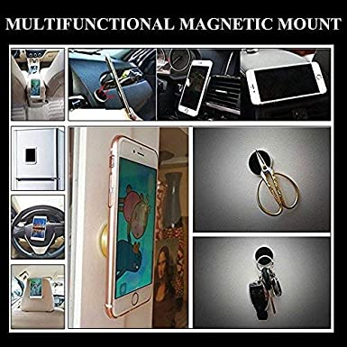 Flat Cell Phone Holder Stick On Car Dashboard Wall Silver Samsung Galaxy S10+//S10e//S9+//S8+//Note9//Edge//A9 SALEX Magnetic Mounts Universal Kit for Men iPhone Xs Max//Xr//8 plus//7//6s//5s 2 Pack
