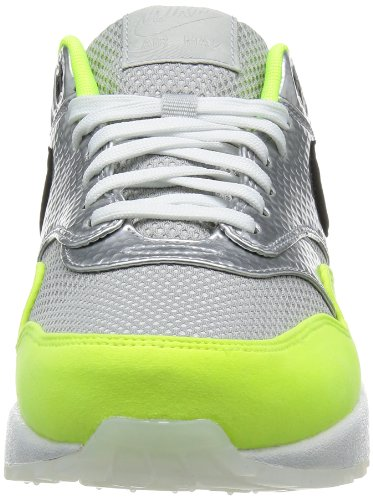 Nike Hommes Air Max 1 Fb Premium Qs, Argent Métallique / Black-volt, 9 M Us
