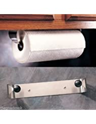 Prodyne Stainless Steel Under Cabinet Paper Towel Holder Rack Wall Mount