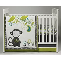 Baby Safari Monkey 4 Piece Crib Bedding Set unisex