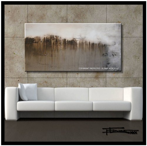 Abstract Canvas Wall Art. Limited Edition, Hand Embellished Giclee on Canvas, 48 (Limited Edition Giclee Art)
