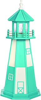 product image for DutchCrafters Decorative Lighthouse - Wood, Cape Henry Style (Aruba Blue/White, 4)