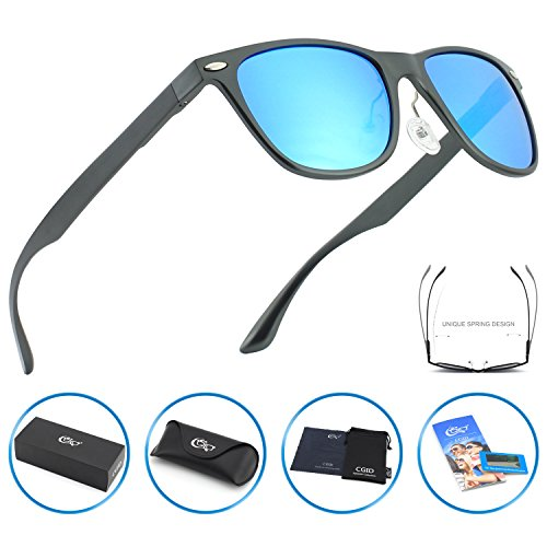 CGID GD54 Al-Mg Alloy Wayfarer Style Polarized Sunglasses UV400,Sun Glasses with Metal - Colonel Sanders Glasses