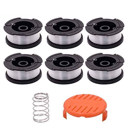Green Box Innovations Line String Trimmer Replacement Spool for (Black+Decker AF-100), 30ft and 0.065-inch, Superior Design with Automatic Feed System (6 Packs) ()