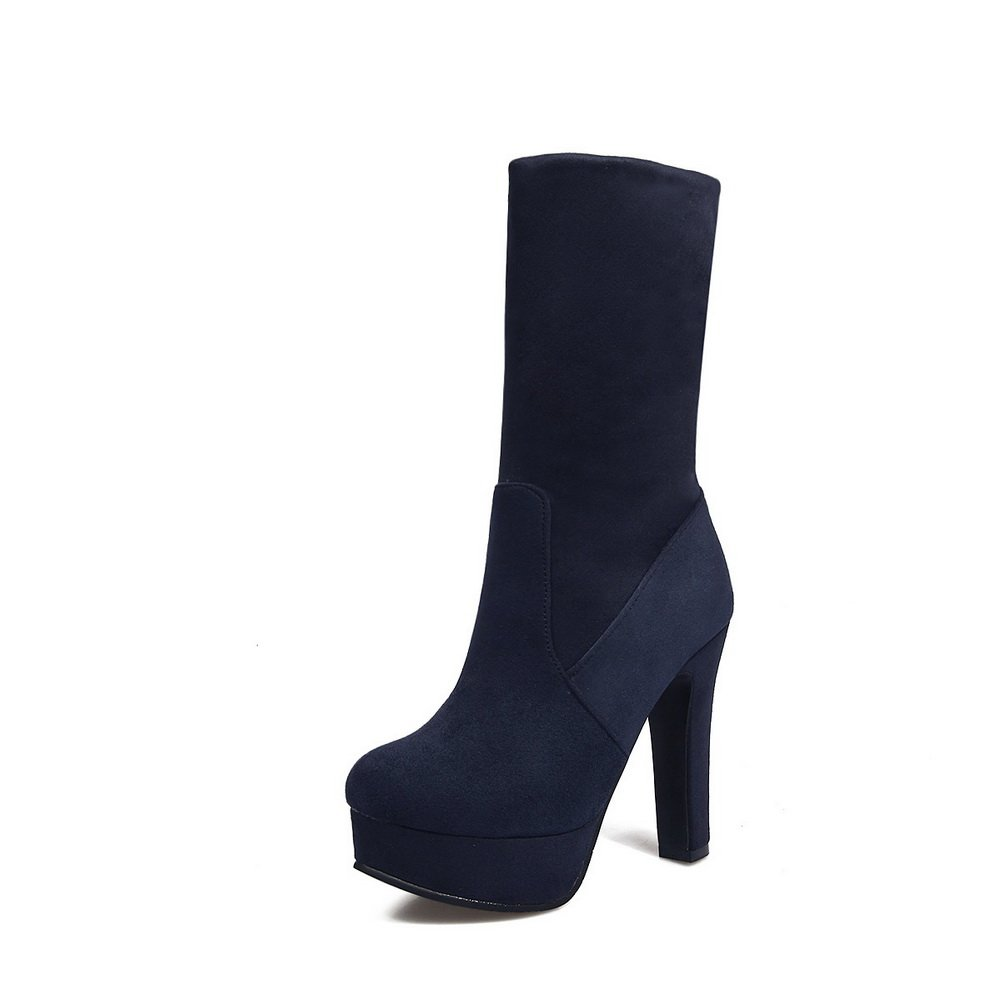 A&N Womens Platform Boots No-Closure Platform Womens Puncture-Resistant Suede Nubuck Waterproof Suede Boots DKU01681 B078B82MTT Platform 16d5aa