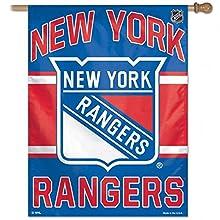 "NHL New York Rangers 01523014 Vertical Flag, 27"" x 37"", Black"