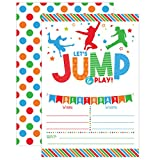 Boy Bounce House Birthday Invitation - Trampoline Jump Birthday Invite - Bounce Birthday - Bounce and Play! Trampoline Birthday Party, 20 Fill In Mermaid Party Invitations With Envelopes
