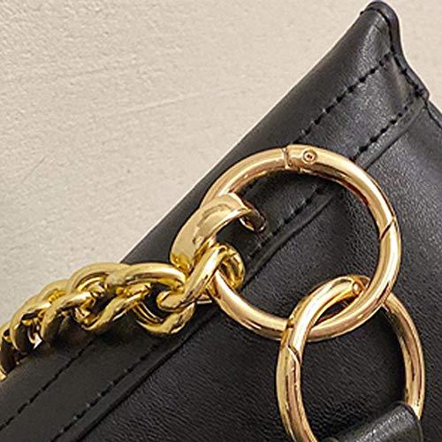 JFHGNJ mode solid kedjeväska midjeväska dammode trend utomhus enfärgad läder axelväska messengerväska – B_0