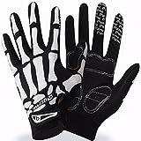 Shina Mens Cycling Biker Racing Motorcycle Skeleton Goth Skull Bone Full Finger Gloves