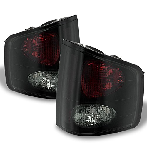 For 94-04 Chevy S-10 GMC Sonoma 96-00 Isuzu Hombra Black Smoked Rear Tail Lights Signal Brake Lamps Smoked Left + Right