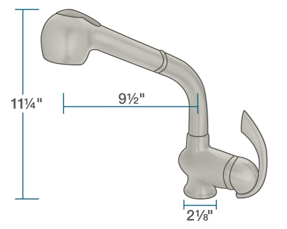 MR Direct 713-bn Brushed Nickel Kitchen Faucet with Pull-Out Spray