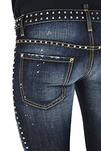 Dsquared2 Women's SLIM CROPPED JEAN Studs Blue - size 40/42