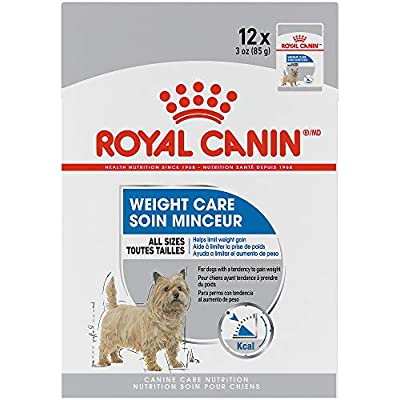 Royal Canin Canine Care Nutrition Weight Care Loaf in Gravy Dog Food, 3 Ounce Pouch (Pack of 12)