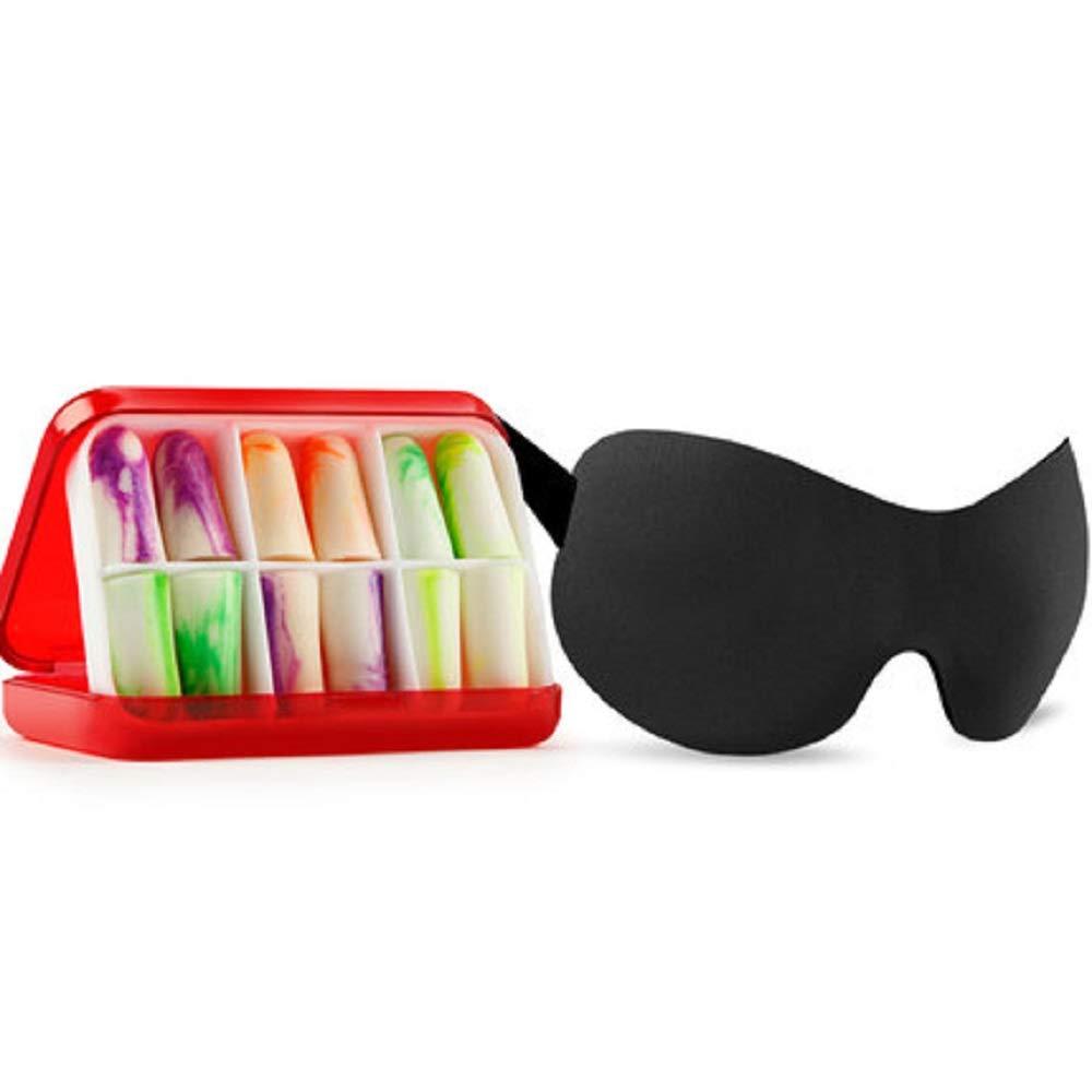 HhGold Pratique Eye Cover Raffiné Masque pour Les Yeux 100% léger bloquant (coloré : Noir)