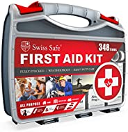 2-in-1 First Aid Kit (348-Piece) 'Double-Sided Hardcase' + Bonus 32-Piece Mini Kit: Perfect for Home &