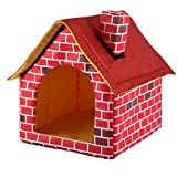 Portable Brick Pet Dog House Cat Bed Designed for Small Dogs and Cats