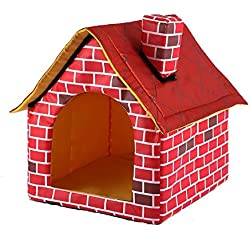 gomaomi Portable Brick Pet Dog House Cat Bed Designed for Small Dogs and Cats