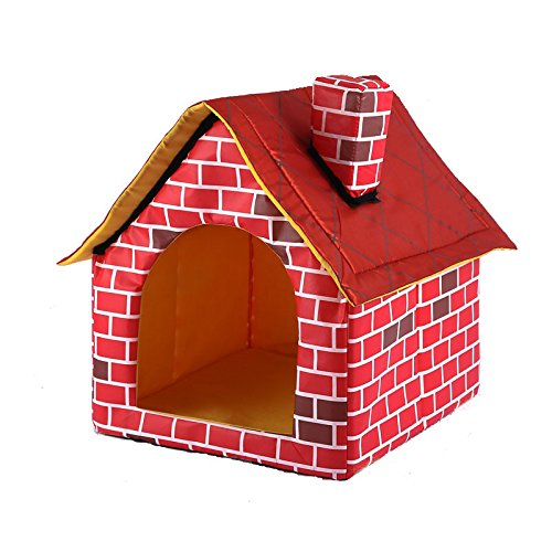 (gomaomi Portable Brick Pet Dog House Cat Bed Designed for Small Dogs and Cats)