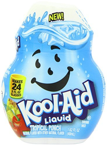 Kool-Aid Liquid, Water Flavoring Enhancer, Tropical Punch, 1.62oz Container (Pack of 3)