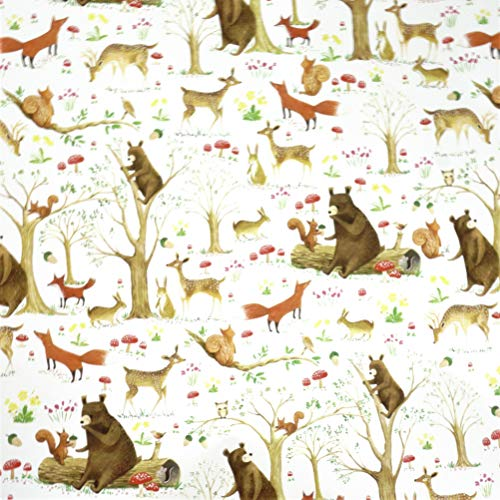 Woodland Forest Animals Gift Wrapping Paper Flat Sheet - 24
