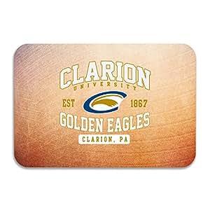 sarht Clarion Universidad de Pensilvania Clarion Eagles Logo antideslizante Felpudo