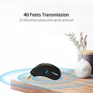 Bluetooth Receiver / Car Kit, Esuper Bluetooth Aux Adapter 3.5mm Wireles Audio Stereo Output for Home Audio Music Streaming Sound System( Bluetooth 4.2,A2DP, Hands-free Call ,40feet Bluetooth Range)