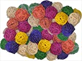 A&E Cage Company 100 Pack of 1.5'' Colored Vine Balls Wicker
