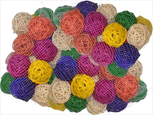 A&E Cage Company 100 Pack of 2'' Colored Vine Balls Wicker by A&E Cage Company