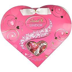 LINDOR Valentine Milk with White Chocolate Mini Gift Heart, 3.4oz