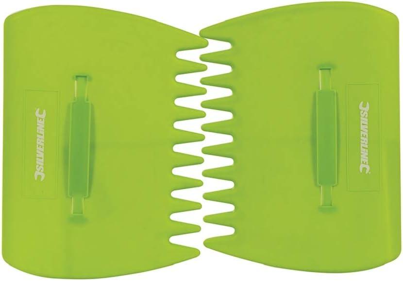 Silverline 07611 Ramasse Feuille à main Vert 33 x 25 cm 2 Pièces