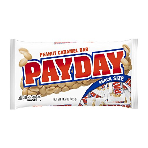 PayDay Peanut Caramel Candy Bar, Snack Size, 11.6 Ounce Bag (Pack of 6)