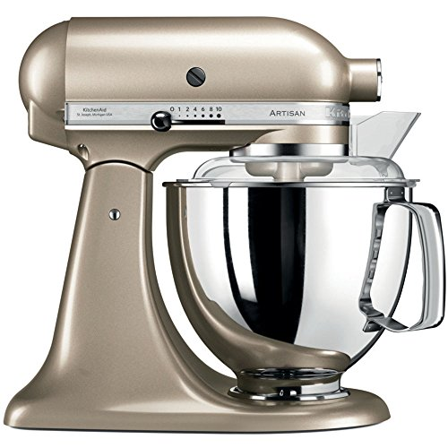 KitchenAid Artisan 5KSM175PSECZ 5 Qt.Stand Mixer Golden Nectar with TWO Bowls & Flex Edge Beater 220 VOLTS NOT FOR USA