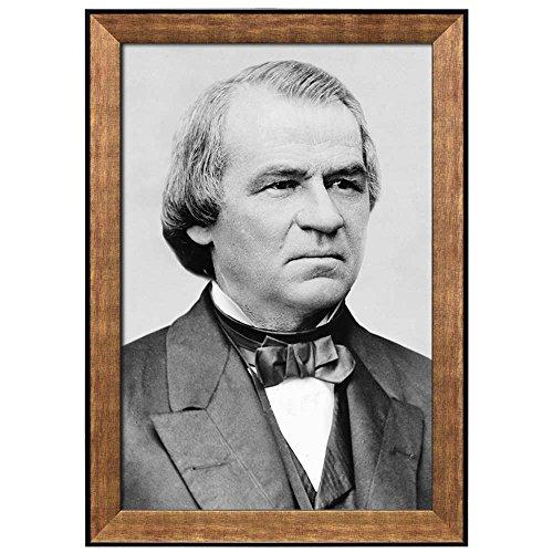 Portrait of Andrew Johnson (17th President of the United States) American Presidents Series Framed Art Print