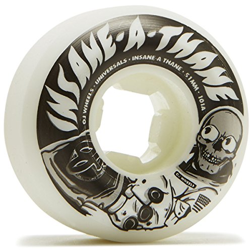 提案命令的熱OJユニバーサルMan Insaneathane Universals 101 A Skateboard Wheels – 51 mm
