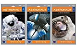 Astronaut Foods Freeze-Dried Ready To Eat Space Food Ice Cream 3 Flavor Variety Bundle: (1) Astronaut Neopolitan Ice Cream, (1) Astronaut Mint Chocolate Chip Ice Cream, and (1) Astronaut Ice Cream Sandwich, 1.1-7 Oz. Ea. (3 Pouches Total)