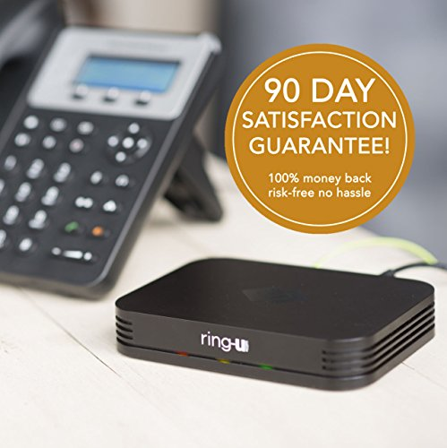 ring-u Hello Hub Small Business Phone System (PBX) and Service (voip). Up to 20 lines and 50 extensions. Keep your number! Set-up is easier than a wireless router. Only $24.95 per phone line. (Pbx Voip Business)