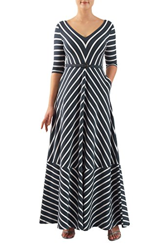 Buy belted chevron stripe dress - 8