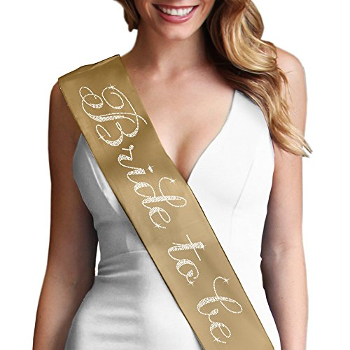 Any Color Sash (Bride To Be Flirty Bridal Party Sash - Bachelorette Accessory Bride Gift Gold)