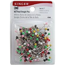 Singer Ball Head Straight Pins-Size 16 200-Pack